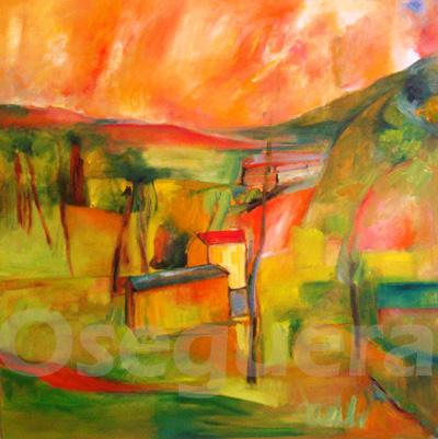 Paisaje pintura abstracta productos bed mattress sale - Pinturas baratas online ...